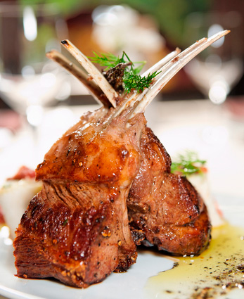 Roasted rack of lamb with parsley crust